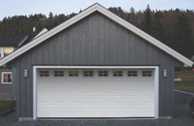 Porte de garage sectionnelle en bois