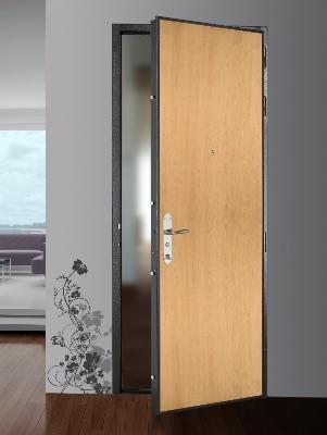 Porte d'entrée marron châtain blindée picard