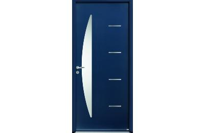 Porte d'entrée en acier bleu