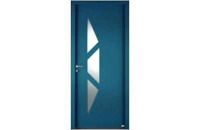 Porte entrée en aluminium vitrée