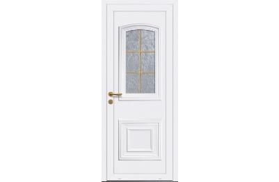 Porte d'entrée blanche vitrage