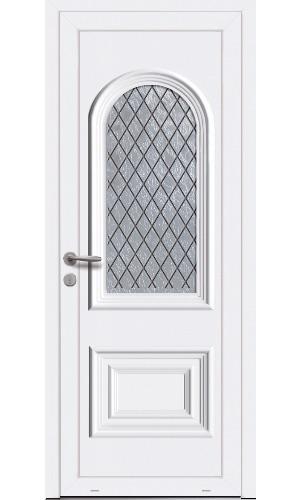 porte d'entrée en pvc blanche