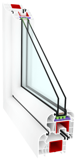 Fenêtre PVC angle